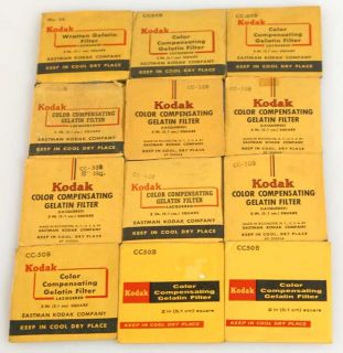KODAK WRATTEN GELATIN 2IN BLUE FILTERS (GROUP OF 12) (pce124513)