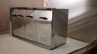 Vintage Chrome Kreamer Ware USA Cannister Set