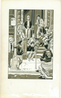 Original Art Ralph Reese Harvey Kurtzman Satirical Paperback Book Nuts