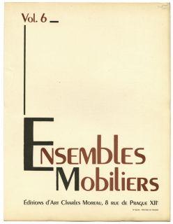 1945 French Art Moderne Design Album Ensembles Mobiliers Folio V 6
