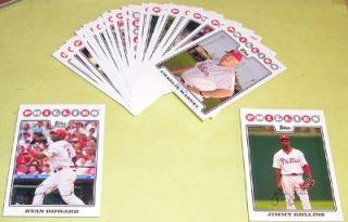 2008 Topps Team Set Philadelphia Phillies World Series