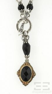 Konstantino Sterling Silver Black Onyx Link Toggle Necklace