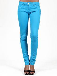 TAKESHY Kurosawa D1147 Turchese Skinny Blue Woman Jeans Women