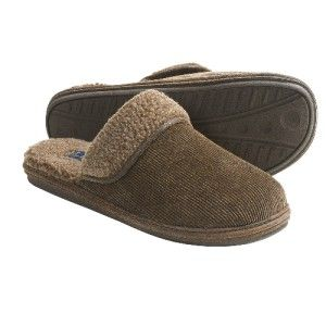 Mens L B Evans Kent Slippers Sherpa Lined Corduroy DK Wheat Charcoal