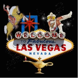 Las Vegas Welcome Sign On Starry Background Photo Cutout