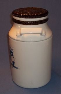 Milk Jug Cookie Jar Marked Houston Harvest Kraft Foods Unique