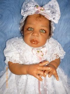 Reborn Baby Girl AA Biracial Kyra Stunning Green Eyes A Must Have
