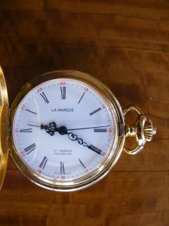 Vintage Swiss La Marque Incablos 17 Jewels Pocket Watch Runs