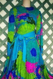Krist Vintage Maxi Dress s M Wedding Cruise Career Church Evening