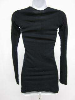 La Made Black Long Sleeve Tunic T Shirt Sz S