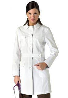 Womens GENEVA Medical SCRUB 35 LAB COAT 408 01 White   XL ExtraLarge