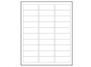 6000 Blank 1 x 2 5 8 Return Address Labels Inkjet Laser Avery