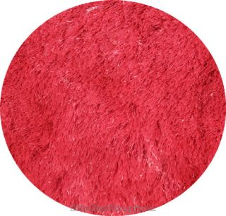3x3 Round Rug Silk Shaggy Modern Shag 1 inch Thick Solid Red Carpet 39