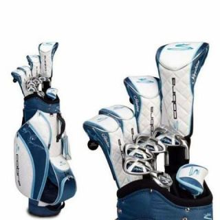 New Cobra Ladies Sapphire Blue Complete Golf Club Set with Bag Womens