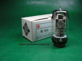 10 x EL153 Telefunken tubes NOS   NIB   tube amp