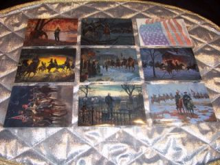 Mort Kunstler 1996 Civil War Complete Base Card Set Confederate Notes