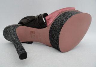 BN KG Kurt Geiger Romantic Pink Grey Bows Platform Heels Shoes UK7