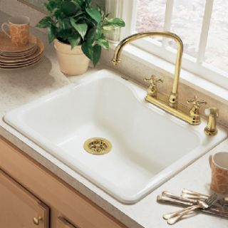 American Standard Silhouette Single Bowl Kitchen 25 Sink 7172