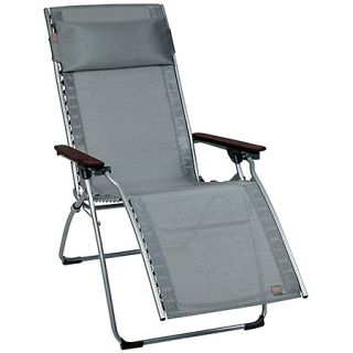 Lafuma Evolution Zero Gravity Recliner Patio Lawn Chair Carbon Grey