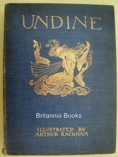 Scarce Arthur Rackham Undine 1909 1st £4 99 Start Maiden Goblin Fairy