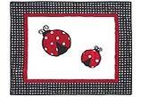 JoJo Designs Luxury Ladybug Polka Dot Baby Girl Crib Bedding 9pc Set
