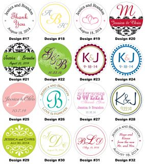 Glossy Wedding Stickers Favor Labels Seal Hundreds Designs