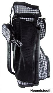 New RJ Sports Golf Ladies Boutique Cart Bag Houndstooth Black White