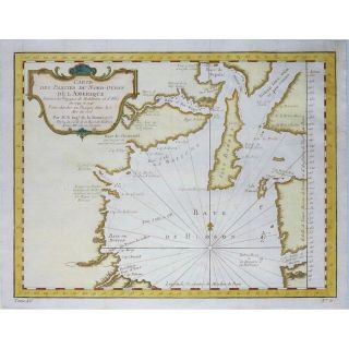 North America Canada Voyages Middleton Ellisoriginal Map Bellin 1753