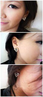 New Lady Vintage Fashion Retro Triangle Rhinestone Cheap Stud Earrings