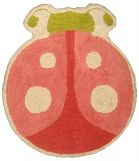 Butterfly Garden Ladybug Tufted Bathroom Floor Mat Rug