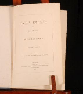 1842 Lalla Rookh Oriental Thomas Moore Illustrated