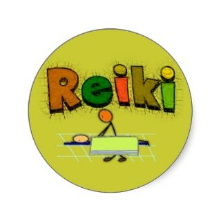 Reiki Stick People Design Gifts Sticker