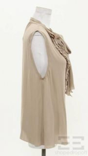 Agence Dusty Rose Silk Ruffle Front Sleeveless Top Size 8 New
