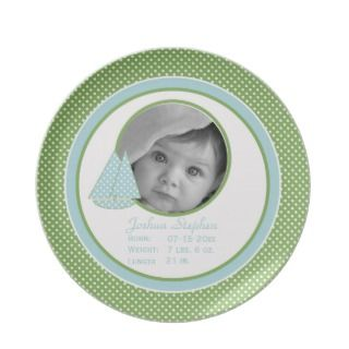 Baby Birth Photo Keepsake Plate