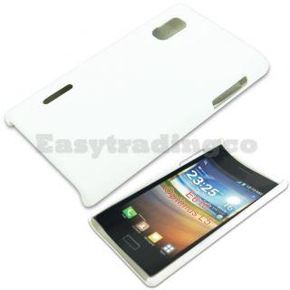 White Hard Back Cover Case for LG Optimus L5 E610