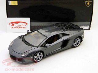 Lamborghini Aventador LP700 4 Grey Metalic 1 18 Bburago