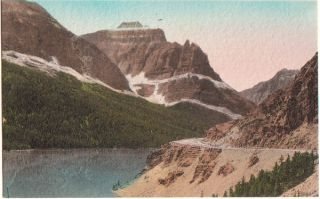 Handcolored St Marys Lake Little Chief Mtn Hwy Montana
