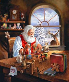 McDonald Canvas Christmas Print The Special Gift