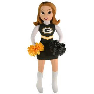 Green Bay Packers Youth Girls 16 Cheerleader Plush Doll