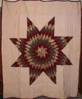 LAKOTA Sioux Native American Star Quilt 84 x 69