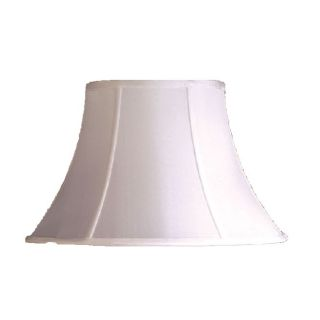 NEW 14 in. Wide Bell Shaped Lamp Shade, White, Faux Silk Fabric, Laura