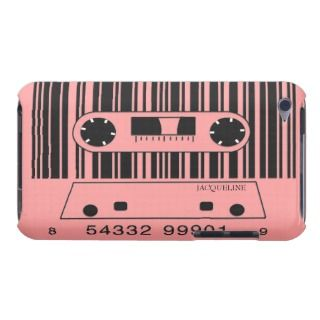 Bar Code Retro Music Cassette iPod Case iPod Touch Covers