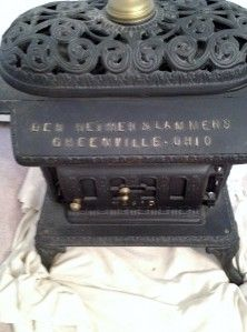 Antique Ber Heimer Lammers Magic 8 Cast Iron Parlor Stove Wood Coal