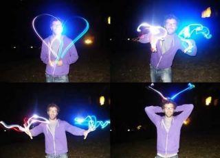 4X Finger Laser Lights LED Beams Stocking Filler Party Gift Boys Toys