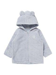 Benetton Faux fur hooded jacket Light Blue