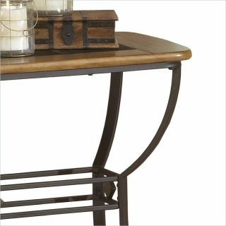 Hillsdale Lakeview Slate Top Sofa Brown Medium Oak Console Table