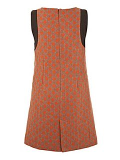 Yumi 60s spot dress Orange