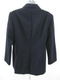 Lafayette 148 Navy Wool Blazer Jacket Sz 10