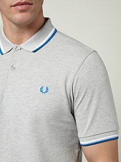 Fred Perry Slim fit twin tipped polo shirt Grey Marl