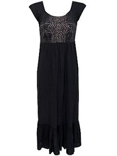 Dash Black sequined maxi dress Black